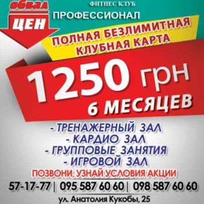 6 месяцев всего за 1250 грн