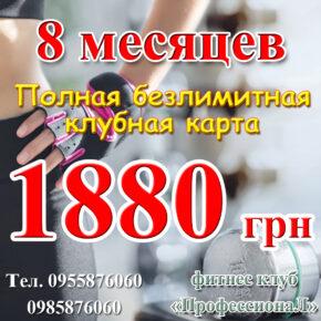 8 месяцев за 1880 грн!